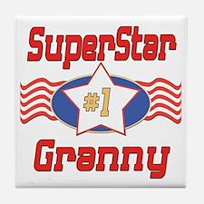 Superstar Granny Tile Coaster