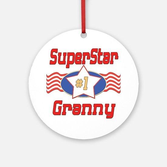 Superstar Granny Ornament (Round)