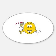 Painter Smiley Face Oval Decal