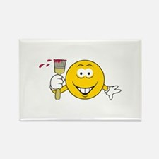 Painter Smiley Face Rectangle Magnet