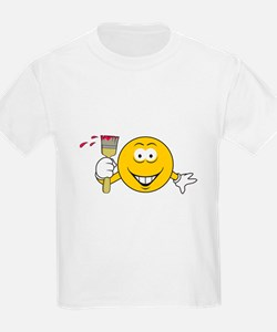 Painter Smiley Face T-Shirt