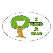 I Need A Hug Oval Decal