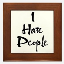 Cute Hate Framed Tile