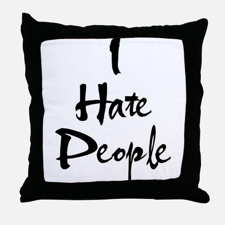 Cute Hate Throw Pillow