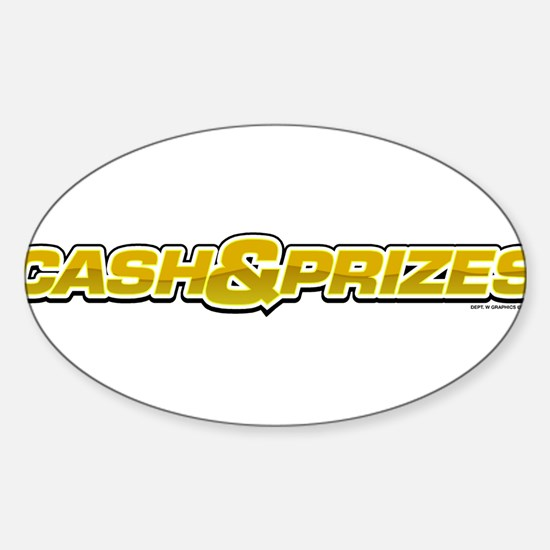 Cash & Prizes Oval Decal