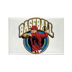 Baseball Logo Rectangle Magnet (100 pack)