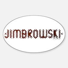 Jimbrowski Oval Decal