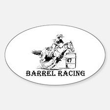 Barrels Oval Decal