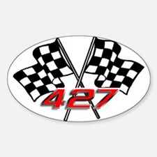 427 Checkered Flags Oval Decal