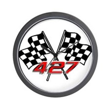 427 Checkered Flags Wall Clock