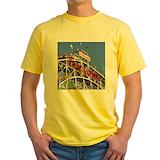 Coney island Mens Yellow T-shirts