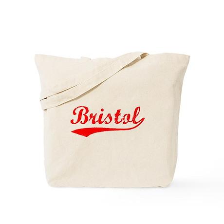 Vintage Bristol (Red) Tote Bag