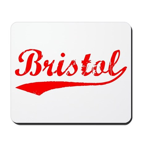 Vintage Bristol (Red) Mousepad