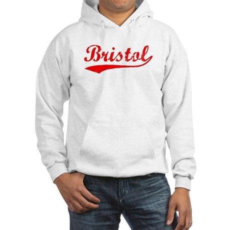 Vintage Bristol (Red) Hooded Sweatshirt