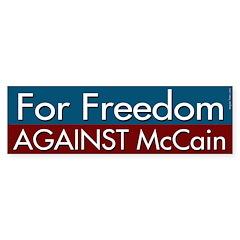 For Freedom Against McCain Bumper Sticker