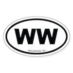 WW Wildwood, NJ Euro Oval Sticker