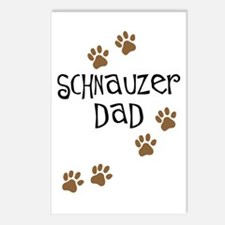 Paw Prints Schnauzer Dad Postcards (Package of 8)