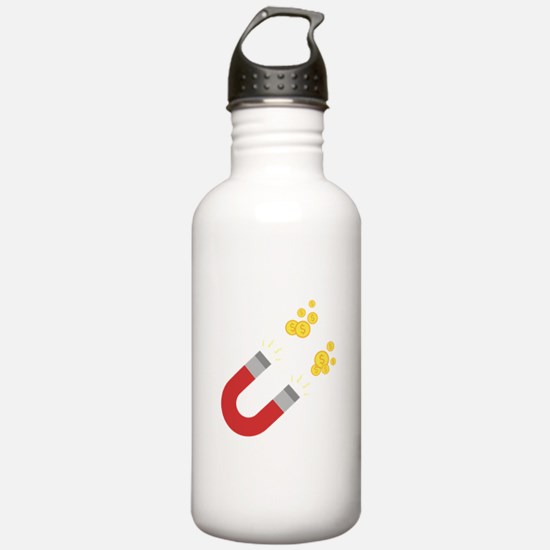 Like a magnet for mone Water Bottle