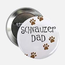 "Paw Prints Schnauzer Dad 2.25"" Button"
