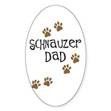 Paw Prints Schnauzer Dad Oval Decal