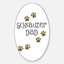Paw Prints Schnauzer Dad Oval Decal