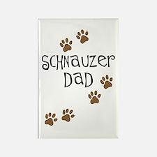 Paw Prints Schnauzer Dad Rectangle Magnet