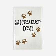 Paw Prints Schnauzer Dad Rectangle Magnet (10 pack
