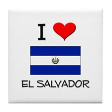 I Love El Salvador Tile Coaster