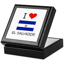 I Love El Salvador Keepsake Box