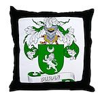 Duran Family Crest Throw Pillow