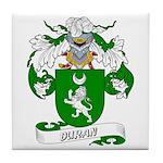 Duran Family Crest Tile Coaster