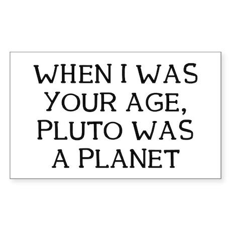 When Pluto Sticker (Rectangle)