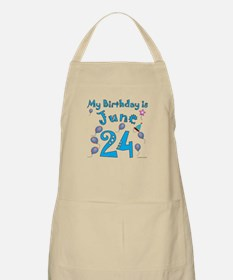 June 24th Birthday BBQ Apron