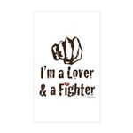 I'm A Lover And A Fighter MMA Sticker 50 Pack