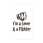 I'm A Lover And A Fighter MMA Sticker 10 Pack