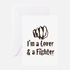 I'm A Lover And A Fighter MMA Greeting Card