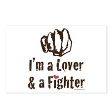 I'm A Lover And A Fighter MMA Postcards (Package o