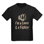 I'm A Lover And A Fighter MMA Kids Dark T-Shirt
