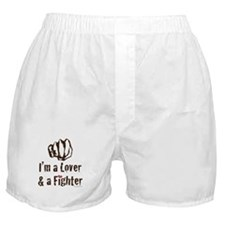 I'm A Lover And A Fighter MMA Boxer Shorts