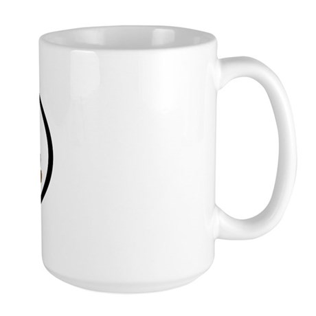 Vizsla Mom Oval Large Mug