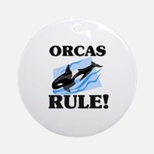 Orcas Rule! Ornament (Round)