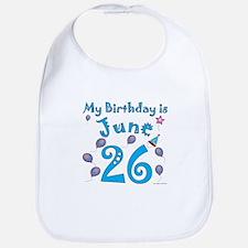 June 26th Birthday Bib