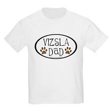 Vizsla Dad Oval T-Shirt