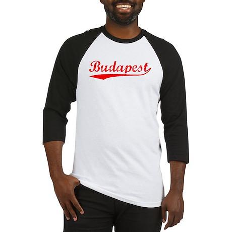 Vintage Budapest (Red) Baseball Jersey