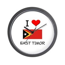 I Love East Timor Wall Clock