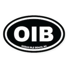 OIB Ocean Isle Beach, NC Euro Black Oval Decal