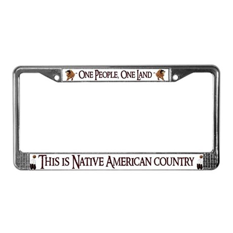 """""""One People"""" License Plate Frame"""