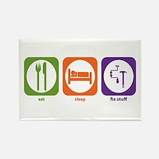 Eat Sleep Fix Stuff Rectangle Magnet