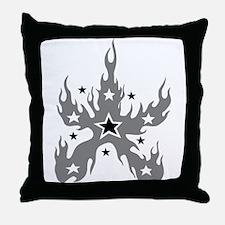 Star Flame Throw Pillow