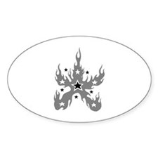 Star Flame Oval Decal